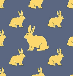 Hare or rabbit silhouette seamless pattern vector