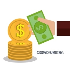 Crowfunding online business investment vector