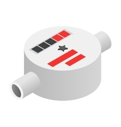 Water meter isometric 3d icon vector