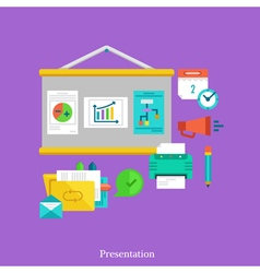 Report and presentation flat concept vector