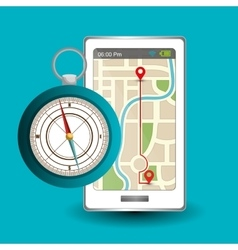 Gps navigation design vector