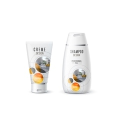 Abstract body care cosmetic brand concept cream vector