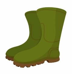 Boots cartoon icon vector