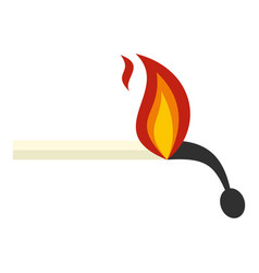 burning match icon isolated vector image vector image