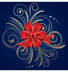 Christmas bow vector image