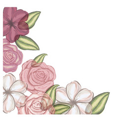 Colorful floral design with flowers in vector