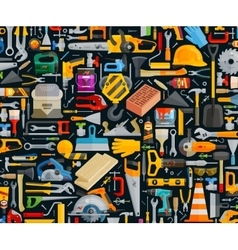construction and repair working tools set color vector image vector image