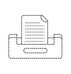 Dotted shape buciness document file cabinet design vector