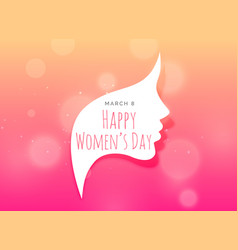 Female face creative design for womans day vector