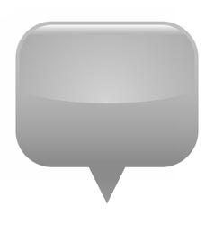 Gray glossy map pin blank location icon vector image vector image