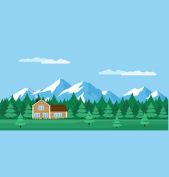 House in the forest vector