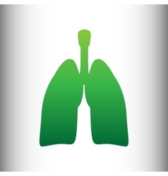 Human organs green gradient icon vector