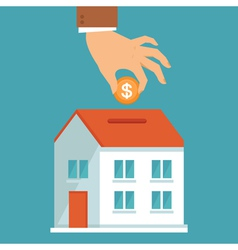 investment concept in flat style vector image vector image