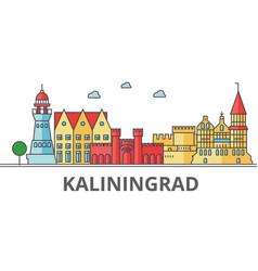 kaliningrad city skyline buildings streets vector image
