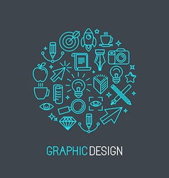 linear graphic design concept vector image
