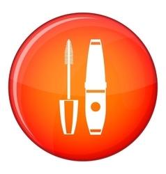 Mascara mascara brush icon flat style vector