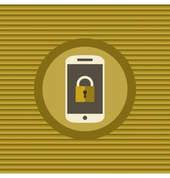 Mobile security flat icon vector image vector image
