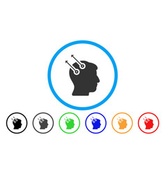 Neural interface plugs rounded icon vector