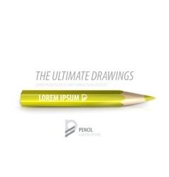 pencil premium ad product template vector image