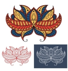 Persian paisley flower with curving lines vector image vector image
