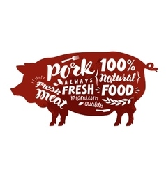 Pig symbol Meat pork vector image