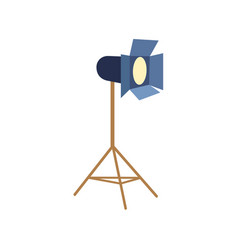 professional photo studio floor lamp flash light vector image