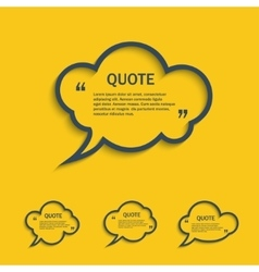 Quote line cloud speech bubbles set vector