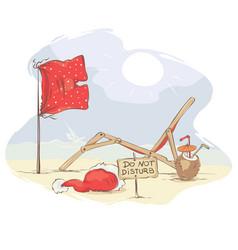 Santa claus beach vacation vector