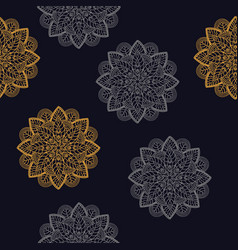 seamless pattern vintage decorative elements vector image