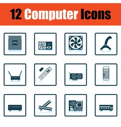 Set of computer icons vector image vector image