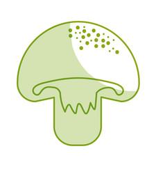 Silhouette delicious fresh mushroom organ food vector