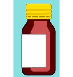 Small glass bottle vector