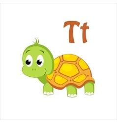 Turtle Funny Alphabet Animal vector image