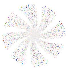 Umbrella fireworks swirl flower vector