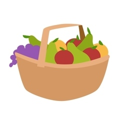 Vegetable harvest basket vector