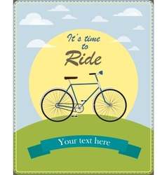 Vintage card a retro bicycle vector