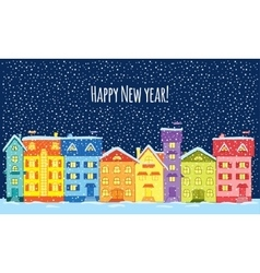 Winter night Happy New Year vector image