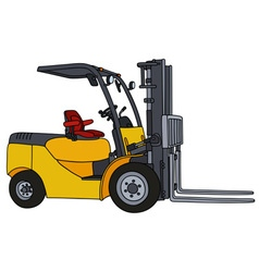 Yellow hydraulic forklifts vector