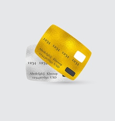 Platinum and golden bank cards vector