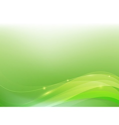 Green abstract background lighting curve and layer vector
