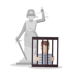 Monument jail and law design vector