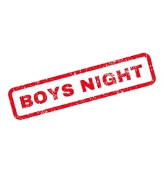 Boys night text rubber stamp vector