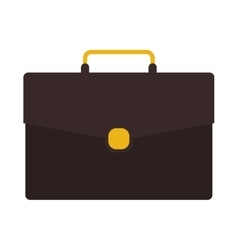 Silhouette with briefcase executive brown vector