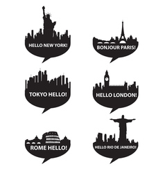 hello city vector image