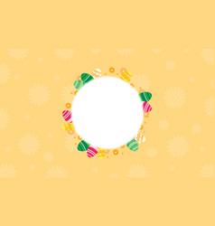Art of easter egg frame vector