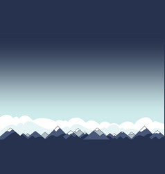 Mountain landscape sky background with copyspace vector