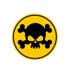 Danger poison sign yellow attention toxic hazard vector