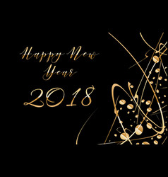 happy new year 2018 background with shiny vector image
