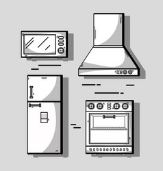 Set kitchen utensils object to make food vector