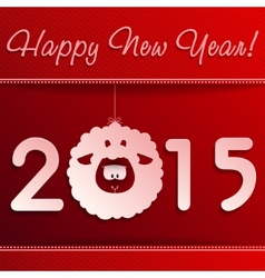 Symbol of new years lamb on red with a frame vector